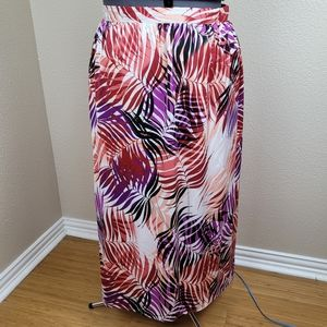 Jessica London Abstract Floral Maxi Skirt 22/24